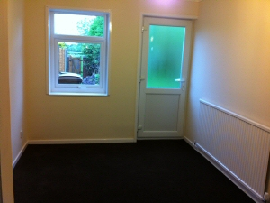 Photo - Room re-plastered, painted and carpeted as part of a full property refurbishment in Preston