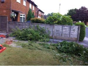 Photo - Garden tidy up in progress for a rental property in the Preston area, ready for new tenants