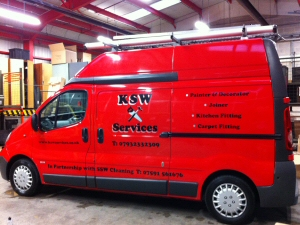 Photo - Our distinctive KSW Services van parked up for the night after a long day